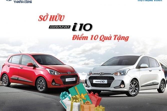 """Lái thử """"Sở hữu Grand I10 Điểm 10 quà tặng"""" cùng Hyundai Vinh"""