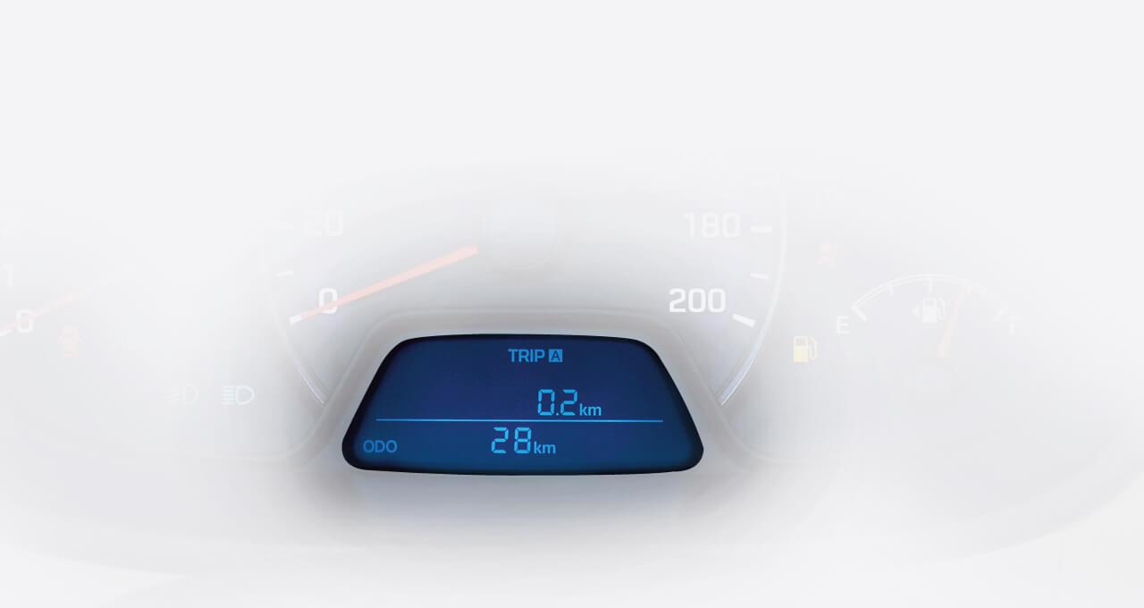 Đồng hồ hiển thị cấp số Đồng hồ điện tử hiện thị cấp số hiện hành giúp bạn chủ động trong việc điều khiển xe hơn