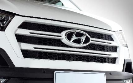 Lưới tản nhiện hình lục giác đặc trưng của Hyundai