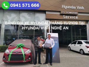 Bảng giá xe Hyundai Tại Vinh Nghệ An