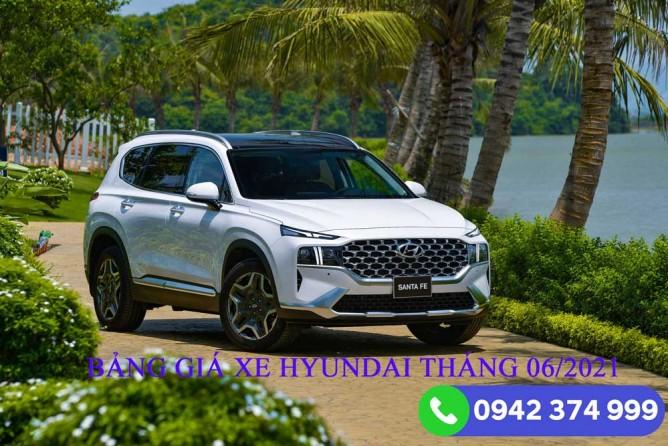 Bảng giá xe Hyundai tháng 06/2021 tại Hyundai Vinh Nghệ An