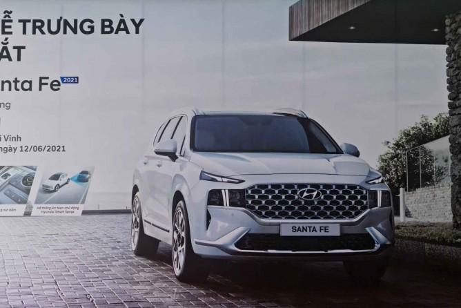 Tuần lễ trưng bày và giới thiệu Santafe 2021 tại Hyundai Vinh Nghệ An